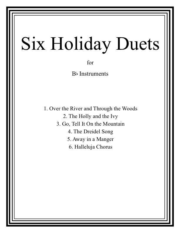 Six Holiday Duets Bb